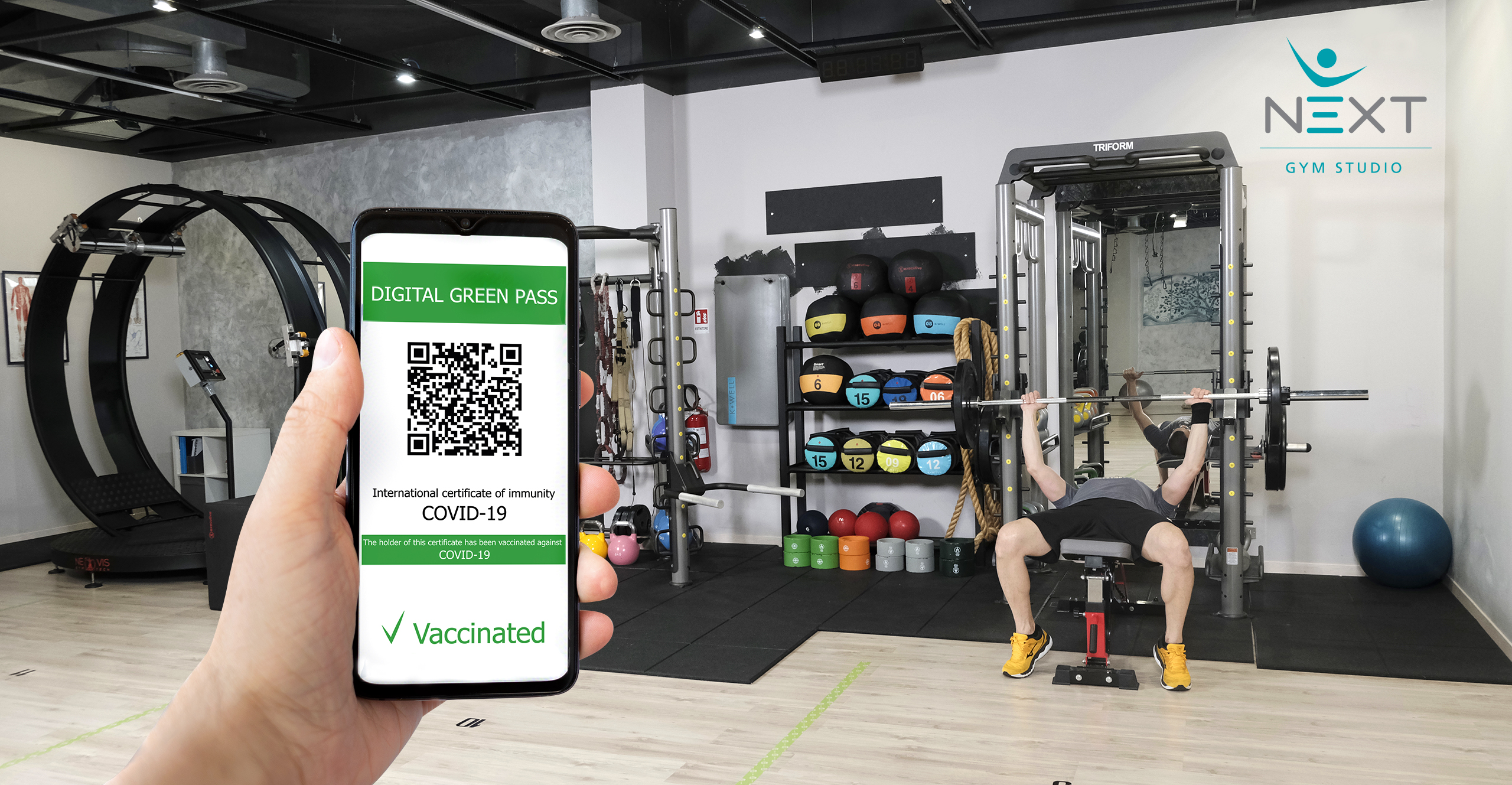 Green Pass Vaccinale - palestra Burago di Molgora - Next Gym Studio