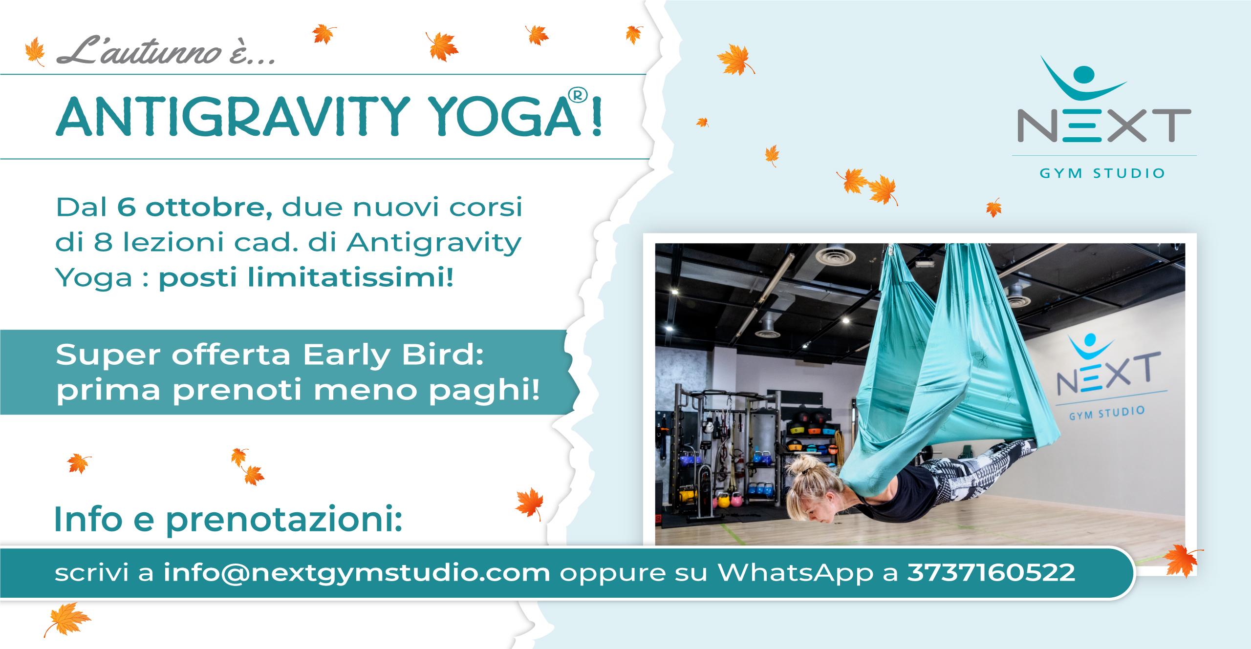 Locandina corso Antigravity Yoga - Burago di Molgora - Next Gym Studio