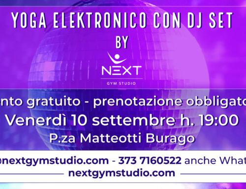 Yoga Elektroniko con DJ Set a Burago di Molgora