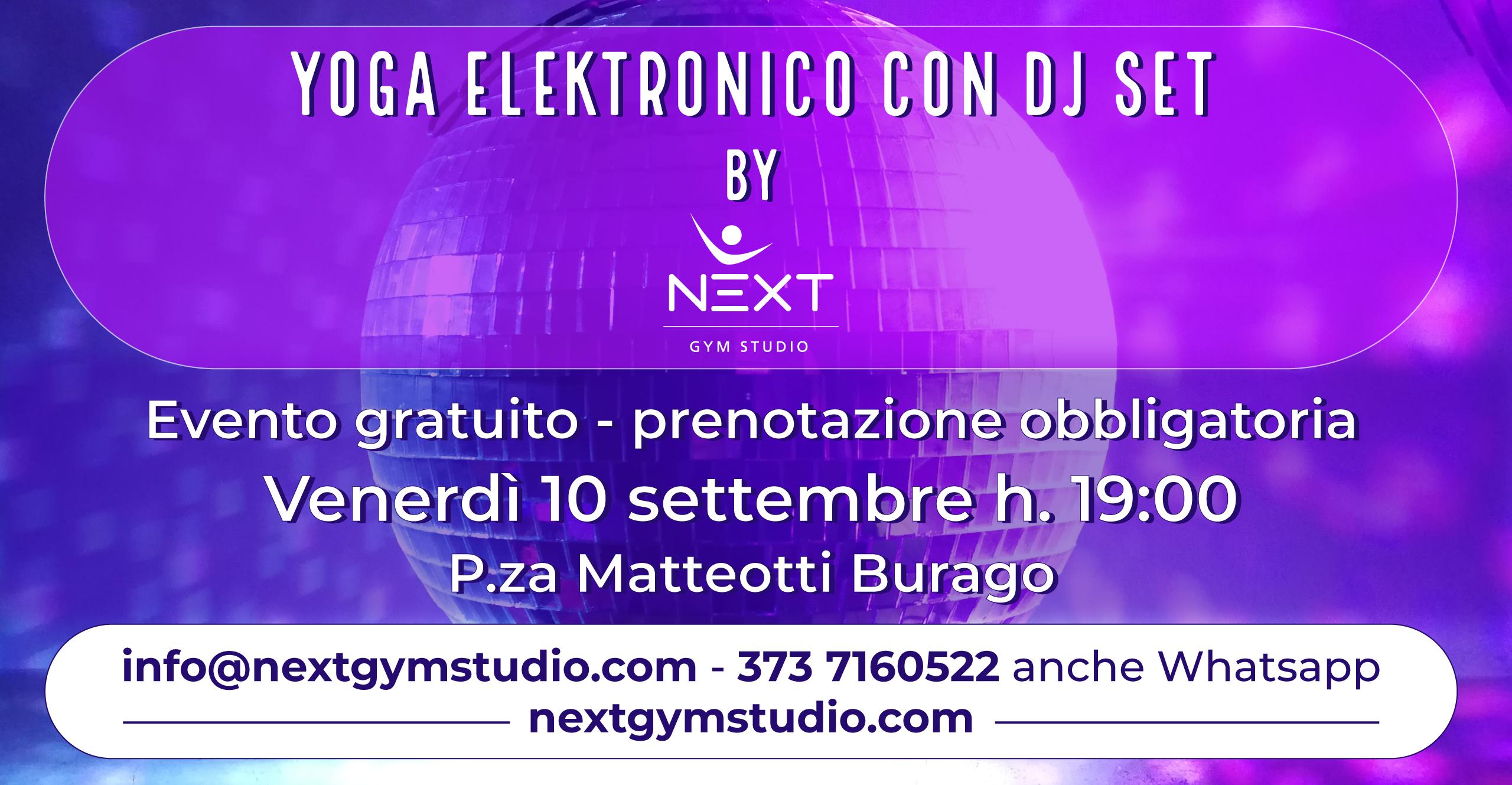 Locandina evento - Yoga Dinamico con DJ Set a Burago di Molgora